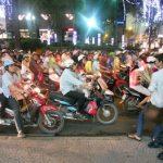 Mar de motos en Saigón